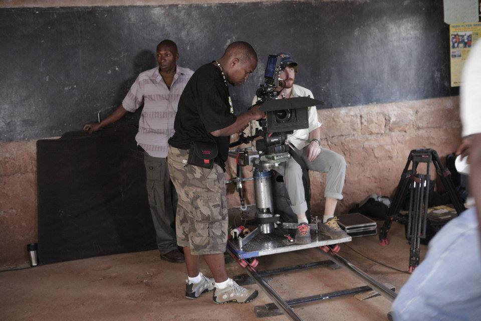Film crew in Kenya